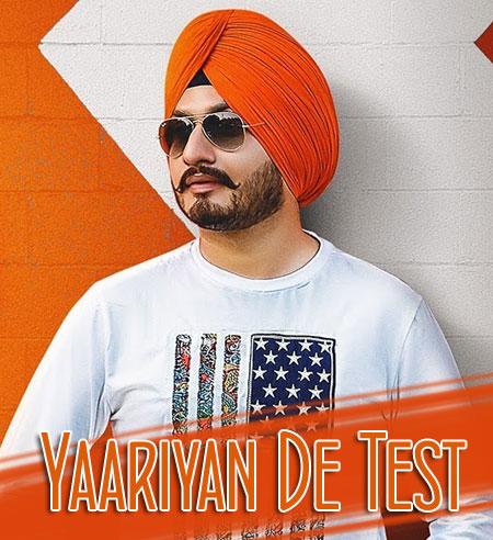 Yaariyan De Test Lyrics by Virasat Sandhu